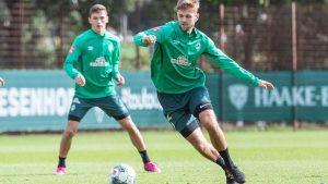 Niclas Füllkrug đang tập luyện hăng say với đồng đội