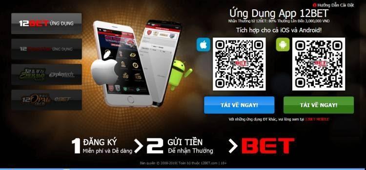 Cổng game 12BET có hỗ trợ ứng dụng trên smartphone