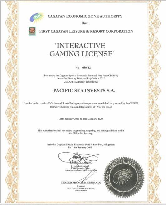 12BET được cấp giấy phép kinh doanh hợp pháp
