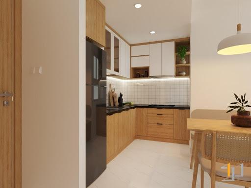 Kích thước tủ bếp cân đối cho các hoạt động trong bếp diễn ra thuận tiện hơn