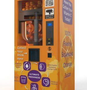 Máy bán nước cam tự động độc lạ và rất chất lượng