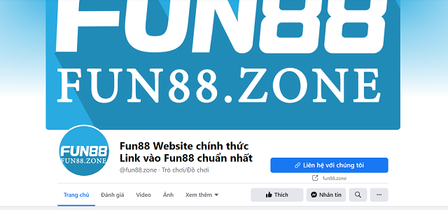 Nhà cái Fun88 trên Facebook